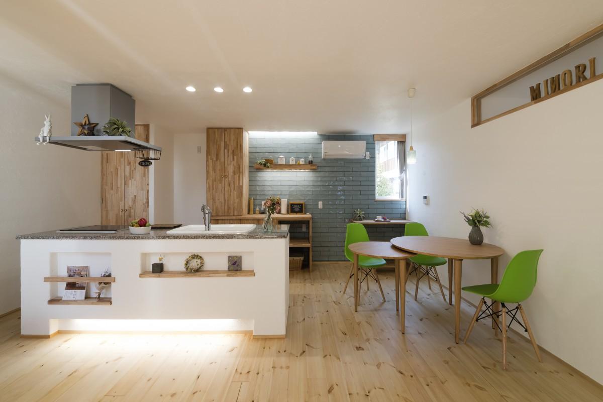 安心できる空気環境の無添加住宅 楽しい空間と家事ラクな工夫満載